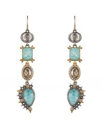 Alexis Bittar | Blue Custom Amazonite Doublet And Crystal Studded Spur Trimmed Drop Earrings You Might Also Like | Lyst