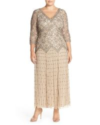 Pisarro Nights | Natural Beaded Lace Gown | Lyst