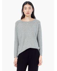 Mango | Gray Polka Dot Cotton-blend Jumper | Lyst