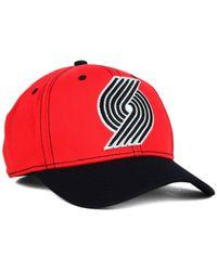 Adidas - Red Portland Trail Blazers 2-Tone Flex Cap for Men - Lyst