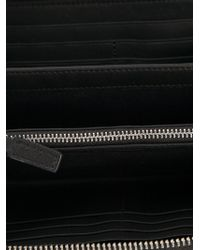 Emporio Armani - Black Logo Zip Around Wallet - Lyst