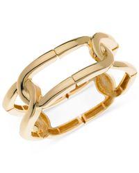 T Tahari | Metallic Gold-tone Stretch Link Bracelet | Lyst
