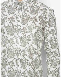 French Connection | White Long Sleeve Floral Shirt for Men | Lyst