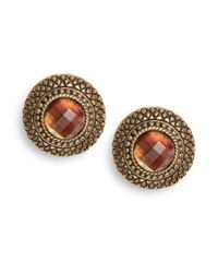 Stephen Dweck | Brown Quilted Mother-of-pearl Doublet Button Earrings | Lyst