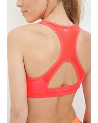 Forever 21   Red High Impact - Mesh Back Sports Bra   Lyst