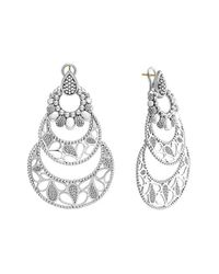 Lagos | Metallic 'voyage' Caviar Drop Earrings | Lyst