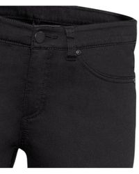 H&M   Black Superstretch Trousers   Lyst