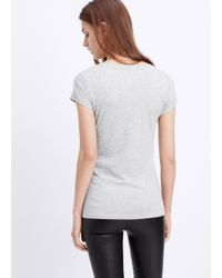 Vince | Gray Little Boy V-neck Tee | Lyst