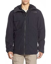 The North Face | Black 'hoodman' Triclimate 3-in-1 Jacket for Men | Lyst