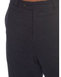 Gieves & Hawkes - Blue Hound's-tooth Brushed-cotton Trousers for Men - Lyst