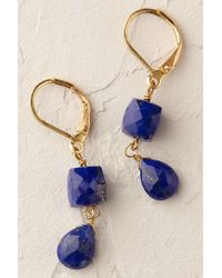 Anthropologie - Blue Prismatic Drop Earrings - Lyst