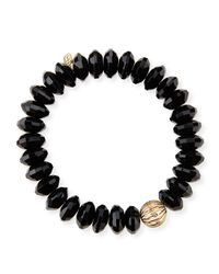 Sydney Evan | Black Design Your Own Bracelet (made To Order) | Lyst