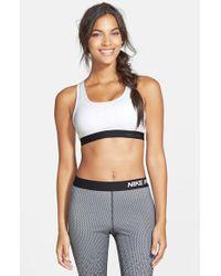 Nike | White 'pro Classic' Dri-fit Padded Sports Bra | Lyst