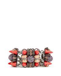 Assad Mounser - Multicolor Neon Spike Crystal Bracelet - Lyst