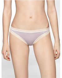 Calvin Klein | Purple Underwear Flourish Thong | Lyst