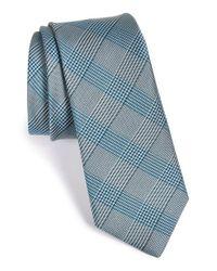 W.r.k. - Blue Plaid Silk & Cotton Tie for Men - Lyst