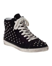 Steve Madden   Black Earnst Lace Up High Top Trainers   Lyst