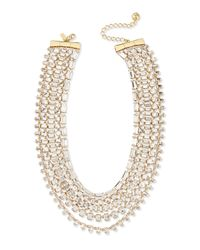 kate spade new york - Metallic Multi-Strand Crystal Statement Necklace - Lyst