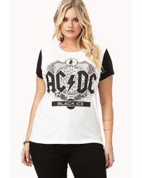 Forever 21 | White Plus Size Ac/dc Black Ice Tee | Lyst