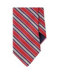 Barneys New York - Red Diagonal Stripe Neck Tie for Men - Lyst