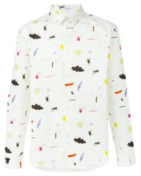 Carven - White Illustrative Print Shirt for Men - Lyst