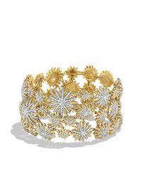 David Yurman | Metallic Mosaic Bracelet With Diamonds In 18k Gold | Lyst