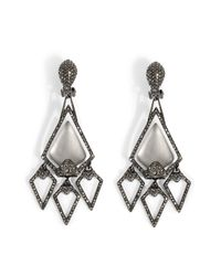 Alexis Bittar | Black Xl Santa Fe Deco Arrow Head Chandelier Earrings | Lyst