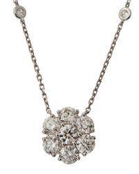 Neiman Marcus - Metallic Diamond Flower Pendant Necklace - Lyst