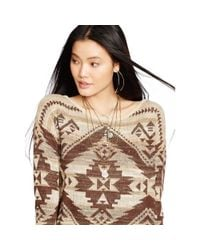 Denim & Supply Ralph Lauren - Natural Southwestern Cotton Sweater - Lyst