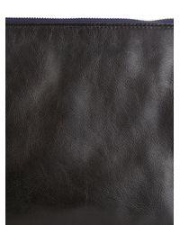 Jil Sander - Blue Bi-Colour Leather Pouch for Men - Lyst