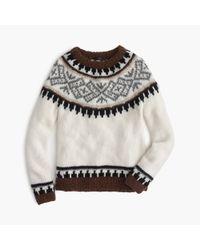 J.Crew | Multicolor Collection Fair Isle Sweater In Italian Yarn | Lyst