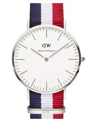 Daniel Wellington | Blue 'classic Cambridge' Nato Strap Watch | Lyst