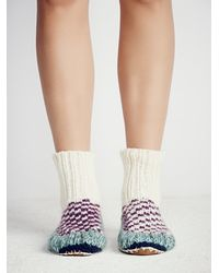 Free People - Purple Ariana Bohling Womens Handknit Ii Alpaca Slipper - Lyst