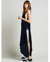 Free People | Black Fp Beach Womens Rio Wrap Dress | Lyst