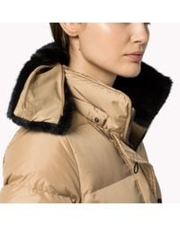 Tommy Hilfiger | Natural Down Hooded Coat | Lyst