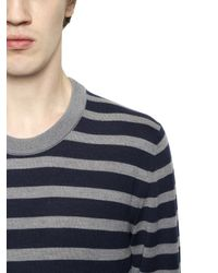 Dolce & Gabbana - Blue Striped Wool Sweater for Men - Lyst