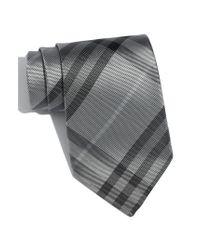 Burberry | Gray 'regent' Woven Silk Tie for Men | Lyst