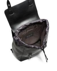 DIESEL - Black Smooth Leather Backpack - Lyst