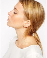 ASOS - Metallic Mini Hoop Earrings - Lyst