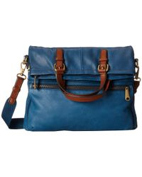 Fossil | Blue Explorer Tote | Lyst