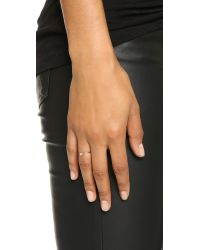 Shashi - Pink Baguette Bar Ring - Lyst