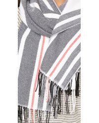 Rag & Bone | Blue Warp Stripe Scarf - Cream | Lyst