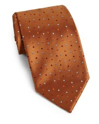 Charvet - Brown Tiny Dots Silk Tie for Men - Lyst