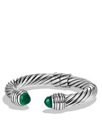 David Yurman | Metallic Cable Classics Bracelet With Green Onyx | Lyst