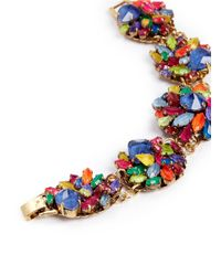 Erickson Beamon - Multicolor 'Splash' Crystal Flower Bracelet - Lyst