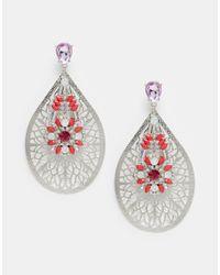 ASOS - Red Nikou Chandelier Earrings - Lyst