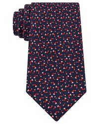 Tommy Hilfiger - Red Stocking Print Tie for Men - Lyst