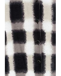 Marc By Marc Jacobs - Black Blurred Plaid Printed Cotton Cardigan - Lyst