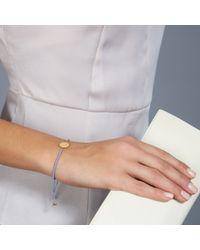 Astley Clarke   Purple Biography 18ct Gold Vermeil Engraveable Disc Cord Bracelet   Lyst