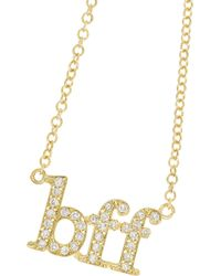 Jennifer Meyer - Metallic Bff 18-Karat Gold Diamond Necklace - Lyst